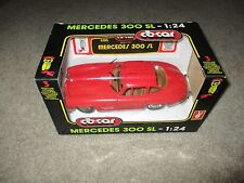 CB Car Diecast 1/24 Scale Mercedes 300 SL Red MIB See My Store