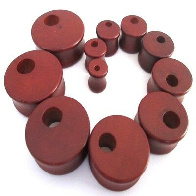 8MM-28MM WOODEN EAR PLUG WOOD TUNNEL TAPER STRETCHER SADDLE HOLE