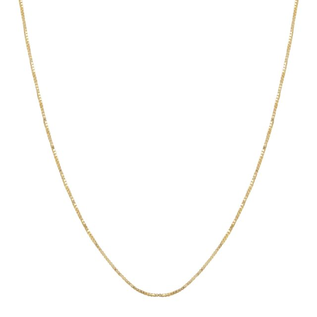 """Eternity Gold Classic Box Chain in 10K Gold, 19"""""""