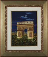 "Liudmila Kondakova - ""Arc de Triomphe"" serigraph on gesso board, Framed"