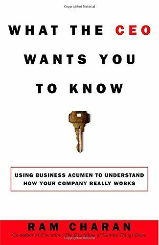 1 of 1 - What the CEO Wants You to Know: The Little Book of B... by Ram Charan 0609608398