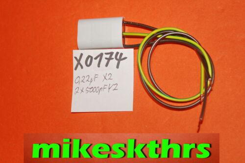 X0174 Entstörkondensator 0,22µF+2x5000pFStörschutzfilter 0,22uF+2x5nF zbf Makita
