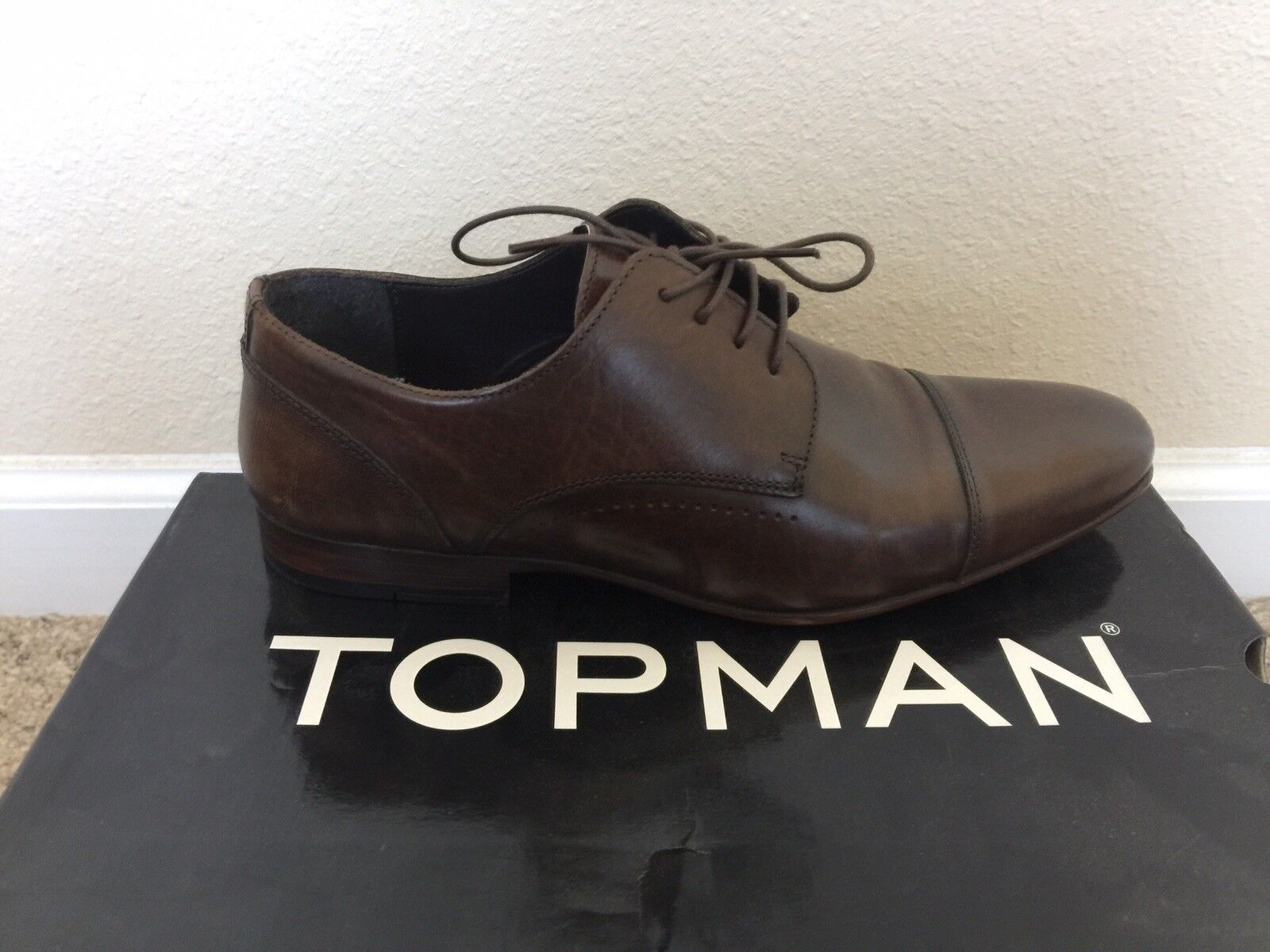 Topman Mens Leather Dress Size Shoes Size Dress 9 982dab