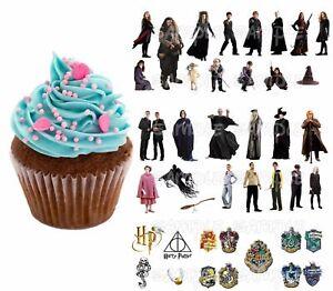 Harry potter e bar tortenaufleger neu party deko muffinaufleger dvd tortendeko ebay - Harry potter party deko ...