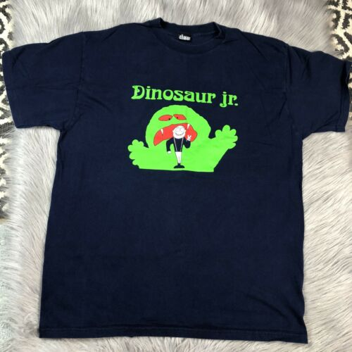 Vintage Made Usa Dinosaur Jr Navy Blue Green Monst
