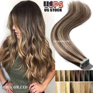 Image Is Loading Tape IN Seamless Skin Weft Real Remy Human