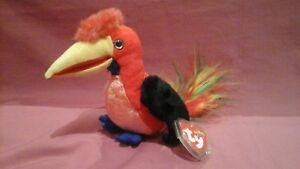 TY-Beanie-babies-Frills-the-tropical-parrot-5-March-2001