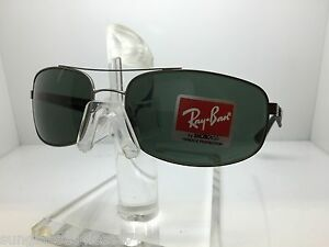 b7484c57a05 Image is loading AUTHENTIC-RAYBAN-RB3527-029-71-MATTE-GUNMETAL-GREEN-