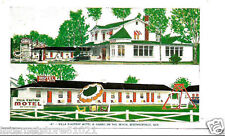 Berthierville Quebec Villa D'Autray Motel & Cabins on the beach 1954 to Dixon Il