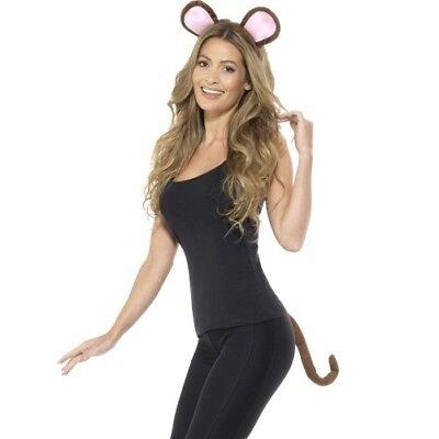 Childrens Fancy Dress Fox Set oreilles sur bande /& Queue Animal Set Par Smiffys