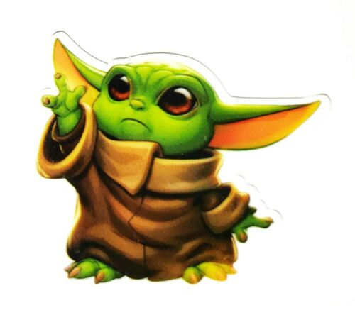 6PC Mandalorian Baby Yoda Flatback Embellishments Cupcake Toppers Bows Crafts