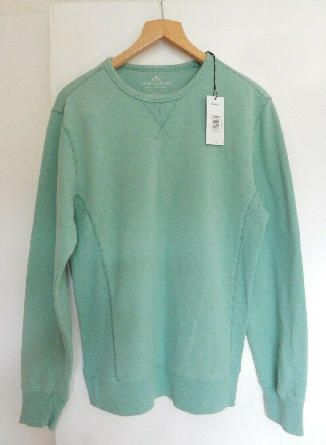 Men's green sweatshirt BNWT Size S 100% Cotton