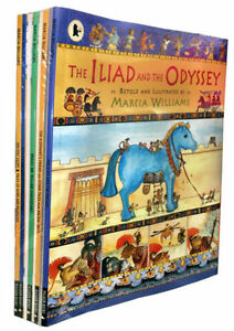 Graphic-Strip-Comic-8-book-Set-Children-History-Collection-Educational-Series