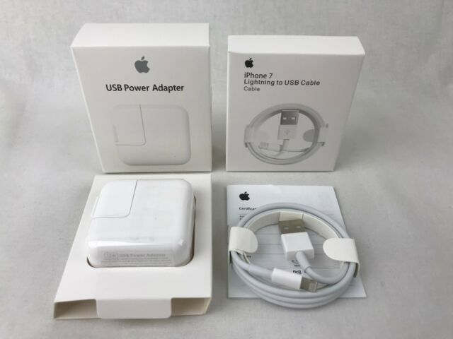 NEW OEM 12W USB Adapter Wall Charger for Apple iPad2 3 4 Air + Lightning Cable