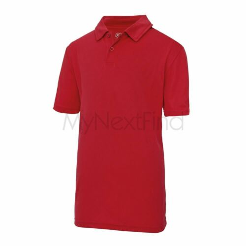 AWDis Just Cool Boys Girls Kids Sports Gym Cool Polo Shirt