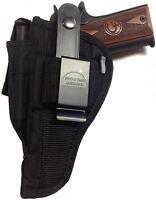 Gun Holster Fits Full Size 1911 Protech Black Nylon Ambidextrous Wsb-15