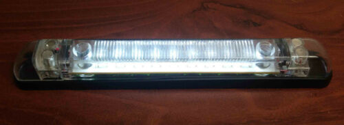 """MARINE BOAT RV PART LED 7/"""" LONG RAIL LIGHT WHITE PC CONNECT UP TO 6 UNITS MAX"""