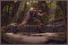 Rich Kelly Jurassic Park Art Print world mondo poster movie screen dinosaur