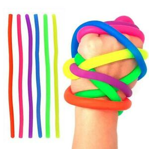 Stretchy String Fidget Noodle Autism ADHD Sensory Anti Toy-Ne Stress Fiddle N8P4