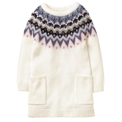 NWT Gymboree Winter Star Fair Isle Sweater Dress Girls Size 5-6,7-8