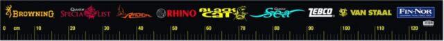 Maßband zum Aufkleben 115 cm Fin -Nor  Boot, Fische, Angelkoffer Black Cat Quant