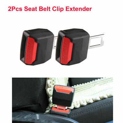 2pcs Adjustable Auto Car Black Safety Seat Belt Buckle Clip Extension Extender