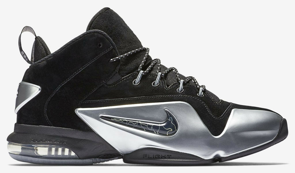 NIKE PENNY 6 VI PRM Black Silver Comfortable New shoes for men and women, limited time discount