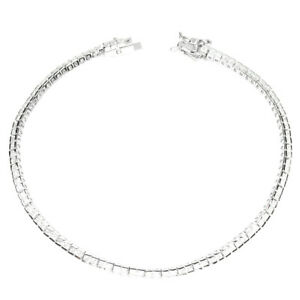 Round-Aaa-White-Cubic-Zirconia-925-Sterling-Silver-Bracelet-7-5-Inches
