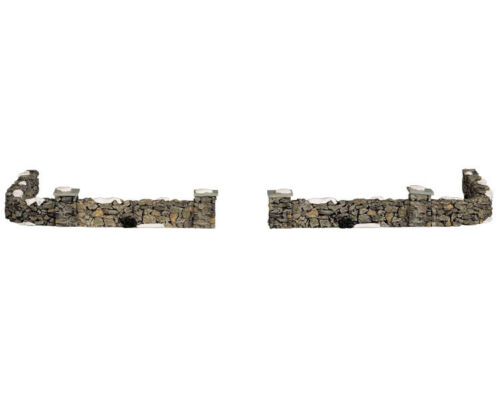 SET OF 10 #93304 NEW LEMAX CHRISTMAS VILLAGE COLONIAL STONE WALL