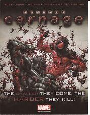 MINIMUM CARNAGE cartolina promozionale USA Marvel 2012 Uomo Ragno Spiderman
