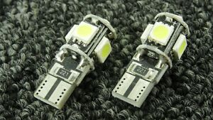 BMW-CAR-SIDE-LIGHT-BULBS-LED-ERROR-FREE-CANBUS-5-SMD-XENON-WHITE
