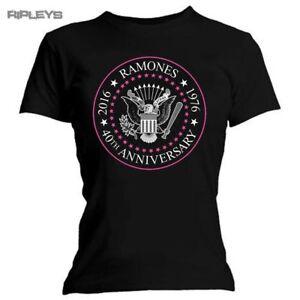 Official-Skinny-T-Shirt-Ramones-Punk-40th-ANNIVERSARIO-Seal-tutte-le-taglie