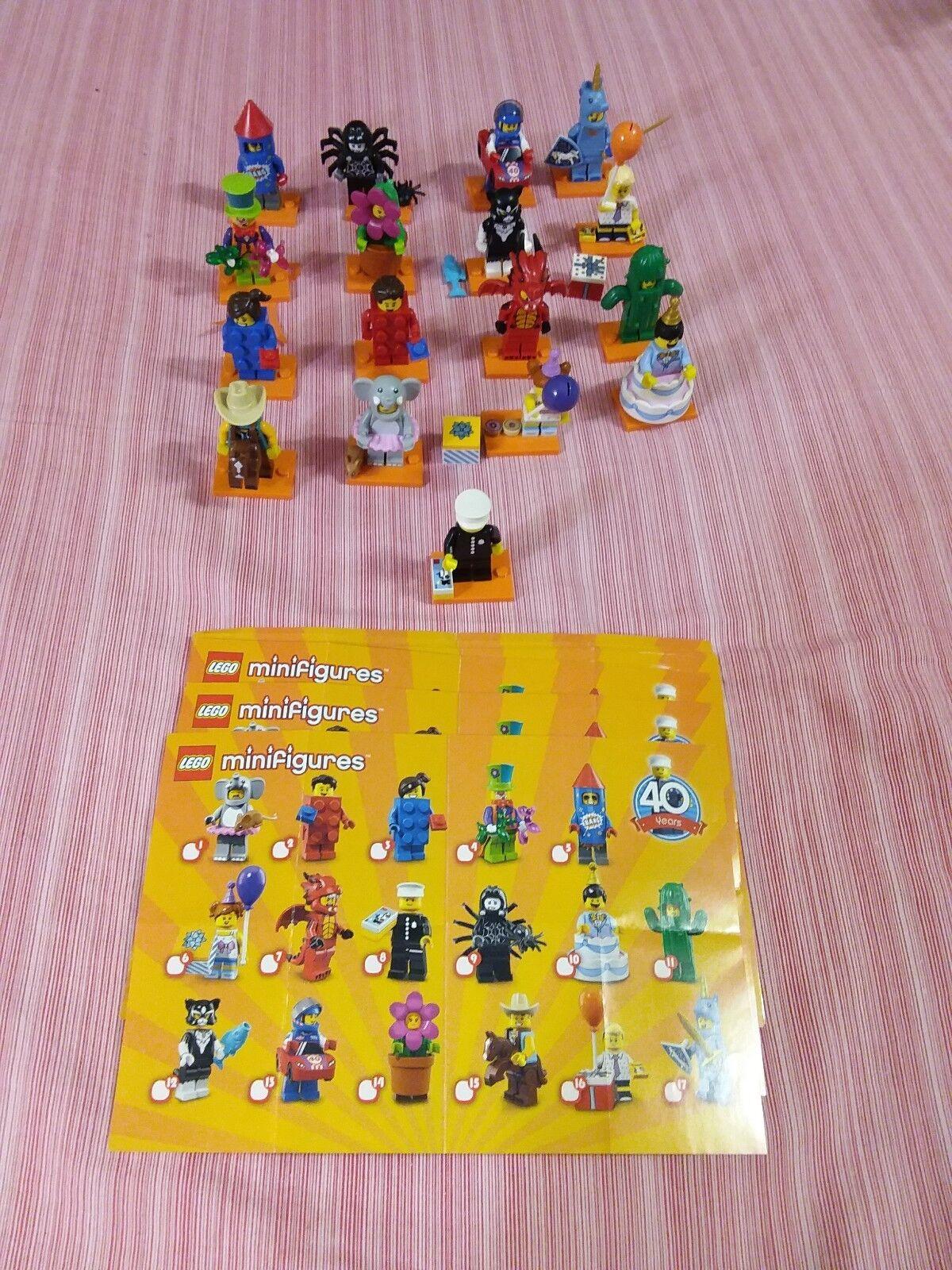 SERIE 18 LEGO MINIFIGURES completa e perfetta con poliziotto codice 71021