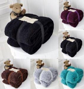 Luxury-Thick-Cuddly-Super-Soft-Teddy-Bear-Warm-Sofa-Bed-Fleece-Blanket-Throw-New