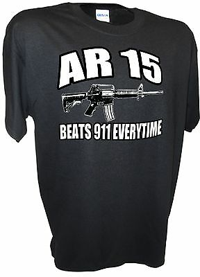 Ar15 Beats 911 2nd Amendment 223 Cal Firearms Pro Gun Assault Rifle M16 Ak47 Tee