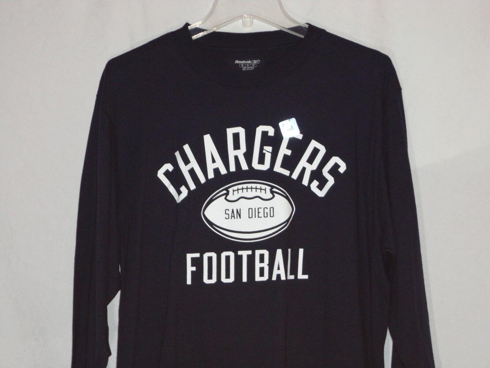 San Diego Chargers Langärmlig Reebok Shirt-Medium-Oops Super Fan Special Deal    Realistisch