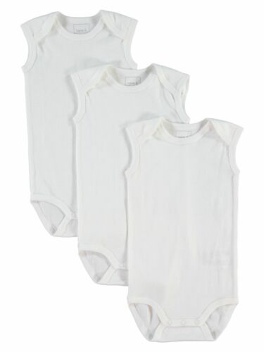 Name it 3er Baby body set sin mangas nbnbody tanque blanco tamaño 50 hasta 98