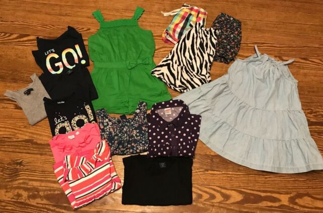 e209b00375b0 HUGE SUMMER LOT GIRLS HANNA GAP GYMBOREE ROMPER SKIRT SHIRTS SHORTS SZ 4T 5T