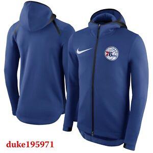 4ffac2ff46 Details about Nike NBA 2017 Philadelphia 76ers THERMA Flex SHOWTIME  Hoodie-Jacket Mens-Medium