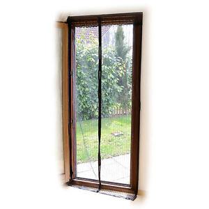 fliegengitter selbstschlie endes premium fliegennetz f r t ren schwarz ebay. Black Bedroom Furniture Sets. Home Design Ideas