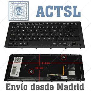 Teclado-Espanol-para-Sony-VAIO-9Z-NABBQ-B0S-BLACK-FRAME-WITH-BLACKLIT
