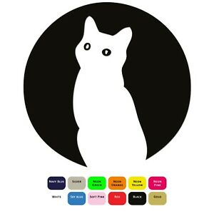 Moon-Cat-Iron-On-T-Shirt-Clothes-Transfer-Heat-Press-Sticker-12-Colours-5-Sizes