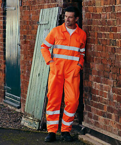 Yoko-Hi-Vis-Polycotton-Coverall-High-Viz-Work-Overalls-Boilersuit-HV058