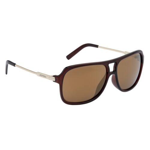 Alpina Fahrradbrille Sportbrille Sonnenbrille Brille A112 brown transparent