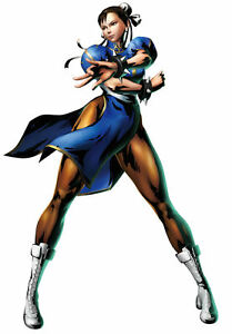 Details About Framed Game Character Print Chun Li Street Fighter Picture Poster Gaming Art
