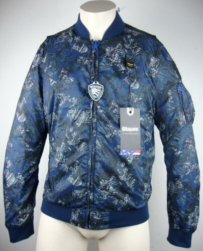 Transition reversibile Giacca Giacca Gr Blouson Label a Blue m Usa vento New Giacca q0HtTUx