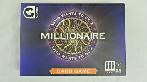 WHO WANTS TO BE A MILLIONAIRE Card Game New /& Sealed.
