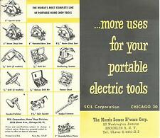 Vintage Brochure Portable Electric Tools SKIL Corp. Saws Drills Sanders