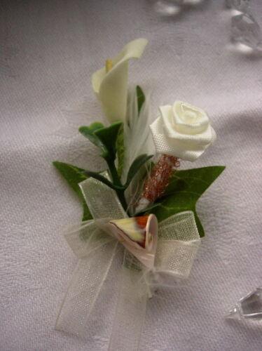 Elegante Hochzeitsanstecker Gästeanstecker Anstecker Hochzeit Blumenanstecker