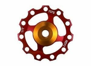 Bike Bicycle Alloy Rear Derailleur Pulley 11T Red 1 SET